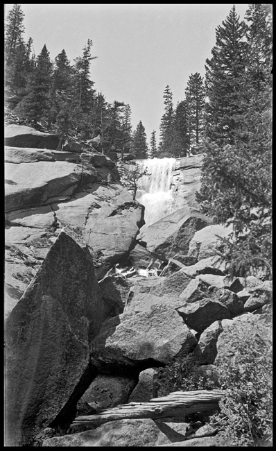 "A Rocky Mountain waterfall, circa 1940""s"