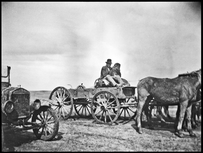 Studebaker wagon parked in the American west probably Utah, circa 1919