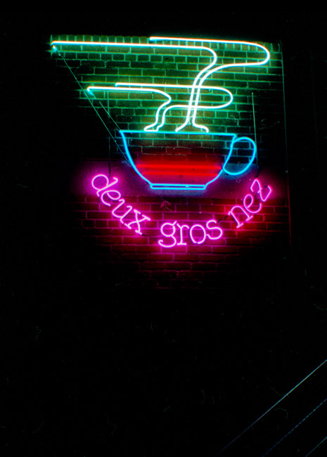 Deux Gros Nez (Two Big Noses) is probably one of the better names for a french owned coffee shop in Reno, Nevada. circa 1986