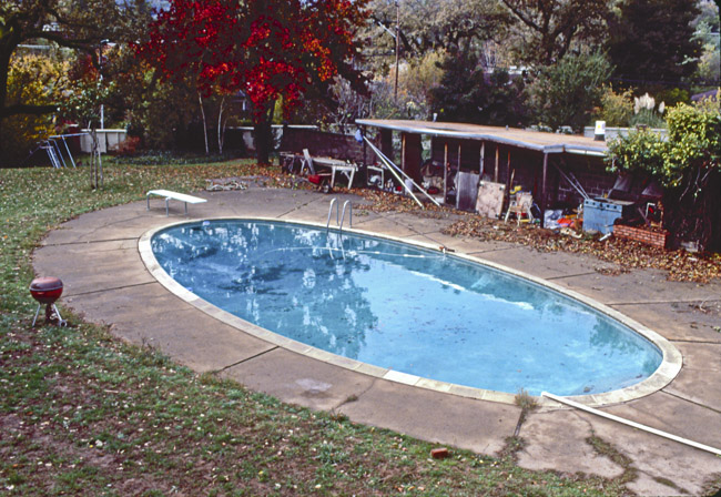 Sandy's swimming pool in Kentfield, circa 1988