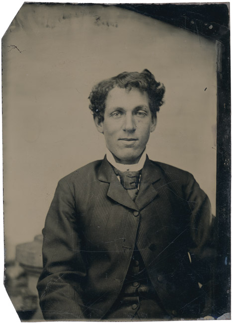 Tintype, Seated gentleman