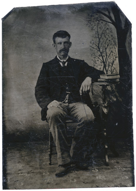 Tintype, Man with mustache