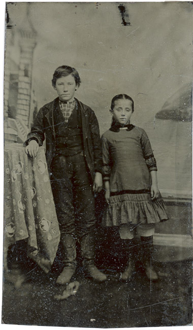 Tintype, Brother and Sister