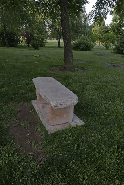 Napoleon Grey marble park bench