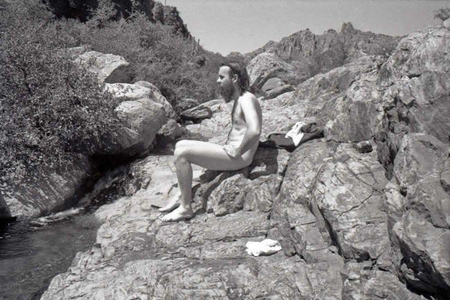 Snapshot, Sunbathing in the Superstitions, circa 1979